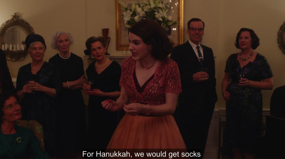 hanukkah socks marvelous mrs. maisel