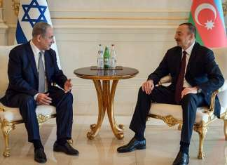 Israeli Prime Minister Benjamin Netanyahu meets with the Azerbaijan President Ilham Heydar Oghlu Aliyev on Dec. 13, 2016. Photo by Haim Zach/GPO.