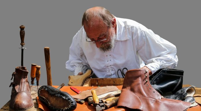 Shoes Shoemaker Middle Ages Leather Boots Isolated