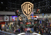 Warner Brothers dominated panels and this section of the exhibit hall at Comic-Con (Photo: Shor M. Masori)