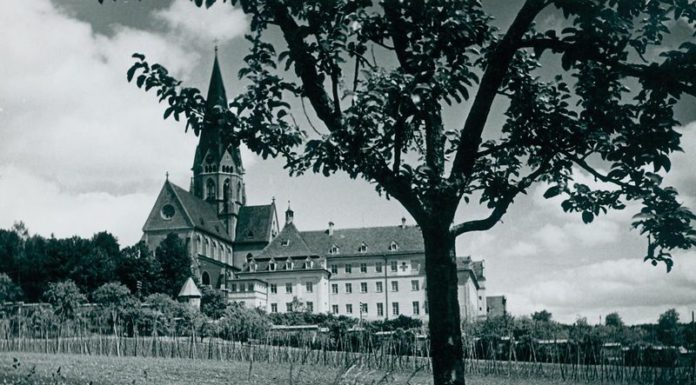 A view of St. Ottilien monastery in 1945 (dphospital-ottilien.org)