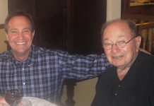 U.S. Rep. Ed Perlmutter, left, poses with his father, Leonard Perlmutter. (Photo courtesy of the congressman's office)