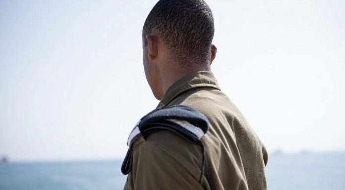Lt. S in his Israel Defense Forces uniform. Courtesy.