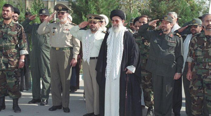 Iranian Supreme Leader Ayatollah Ali Khamenei with Revolutionary Guard Corps. Credit: Wikimedia Commons.
