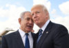 U.S. President Donald Trump with Israeli Prime Minister Benjamin Netanyahu at Ben-Gurion International Airport on May 23, 2017. Credit: Kobi Gideon/GPO.