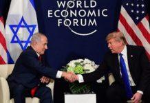 Israeli Prime Minister Benjamin Netanyahu and President Donald Trump meet at the World Economic Forum in Davos, Switzerland. Credit: Amos Ben-Gershom/GPO.