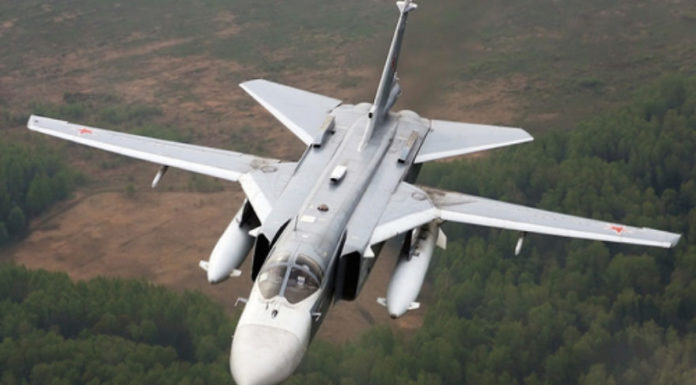 A Russian Su-24 fighter jet. On Nov. 24, a Turkish F-16 fighter jet shot down a Russian Su-24 (not the one pictured here) near the Turkish-Syrian border, igniting the current tensions between Russia and Turkey. Credit: Alexander Mishin via Wikimedia Commons.