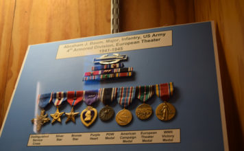 Medals and awards presented to Abraham J. Baum