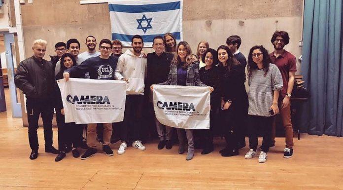 Canadian-Israeli LGBT activist and celebrity designer Shai DeLuca-Tamasi at University College London. Credit: CAMERA on Campus.