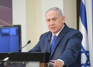Israeli Prime Minister Benjamin Netanyahu at the Defense Ministry in Tel Aviv. Credit: Amos Ben-Gershom/GPO.