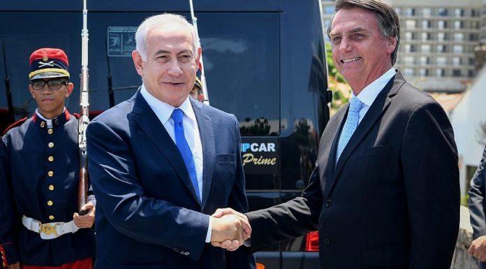 Israeli Prime Minister Benjamin Netanyahu with Brazilian President Jair Bolsonaro in Rio de Janeiro on an official state visit in Brazil, Dec. 28, 2018. Credit: Avi Ohayon/GPO.