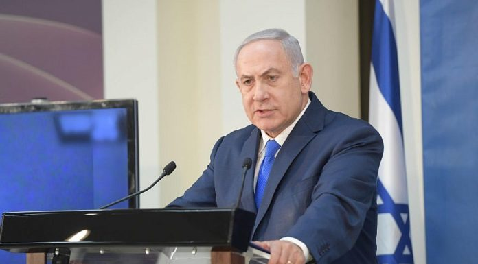 Israeli Prime Minister Benjamin Netanyahu at the Defense Ministry in Tel Aviv, Dec. 4, 2018. Credit: Amos Ben-Gershom/GPO.