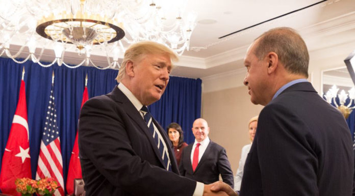 President Donald J. Trump and President Recep Tayyip Erdoğan of Turkey at the United Nations