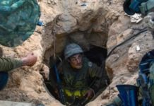 Israel Defense Forces' soldiers work to discover and dismantle Hamas's terror tunnels in the Gaza Strip in July 2014. Credit: IDF.