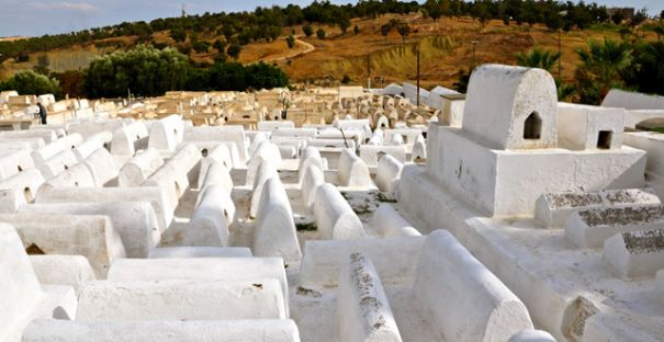 Typical Moroccan Jewish cemetery